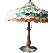 Bradley and Hubbard Parlor Lamp with Stained Glass Shade