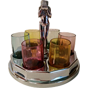 Farberware Chrome Plated Art Deco Nude Cordial Set