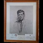 John Kennedy Print by Louis Lupas in 1962