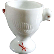 Milk Glass Chick Egg Cup
