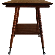 Quarter Sawn Oak Lamp Table