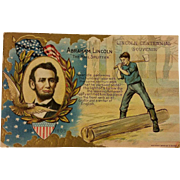 Lincoln Commemorative Postcard made for his 100th Birthday