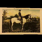 Postcard of Robert E. Lee on Traveler