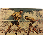 Post Card of Dempsey Vs. Willard Fight with Dempsey Autograph
