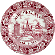 New Orleans Historical Plate by Old Staffordshire Ware of England