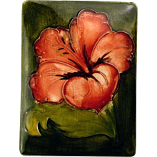 Moorcroft Hibiscus Covered Box - Red Tag Sale Item