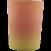 Mount Washington Burmese Glass Tumbler