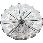 EAPG Thistle Pattern Cake Stand by Higbee Glass
