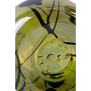 Gibson Hanging Heart Vaseline Glass Cruet