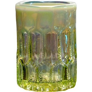 Gibson Vaseline Opalescent Glass Toothpick