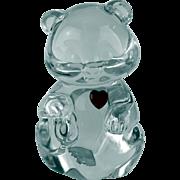 Fenton Crystal Bear