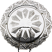 EAPG Star Feather Cake Plate