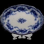 """Grindley Bros. England """"Florida"""" Pattern Flow Blue Platter"""