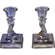 Imperial Glass Dolphin Candle Sticks