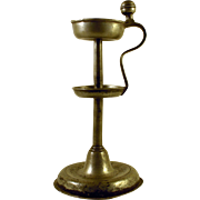 Pewter Fat or oil lamp