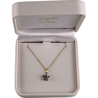 14K Necklace with Tanzanite Star