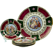 German made Desert Set with Mythical Decoration