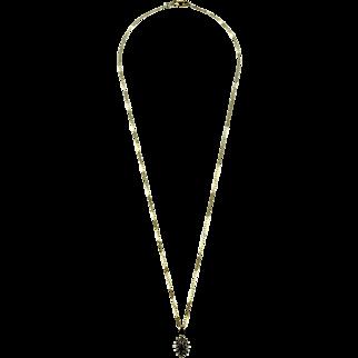 14 K Sapphire and Diamond Necklace