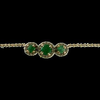 14K Emerald Necklace