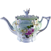 RS Prussia Iris Mold Teapot