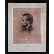 Print of Lincoln Sketch done by Thomas Johnson 1892