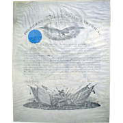Group of Civil War Documents of Oscar B. Kerlin, Featuring a Signed Abraham Lincoln Commission