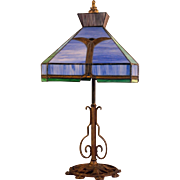 Milcast Stained Glass Table Lamp
