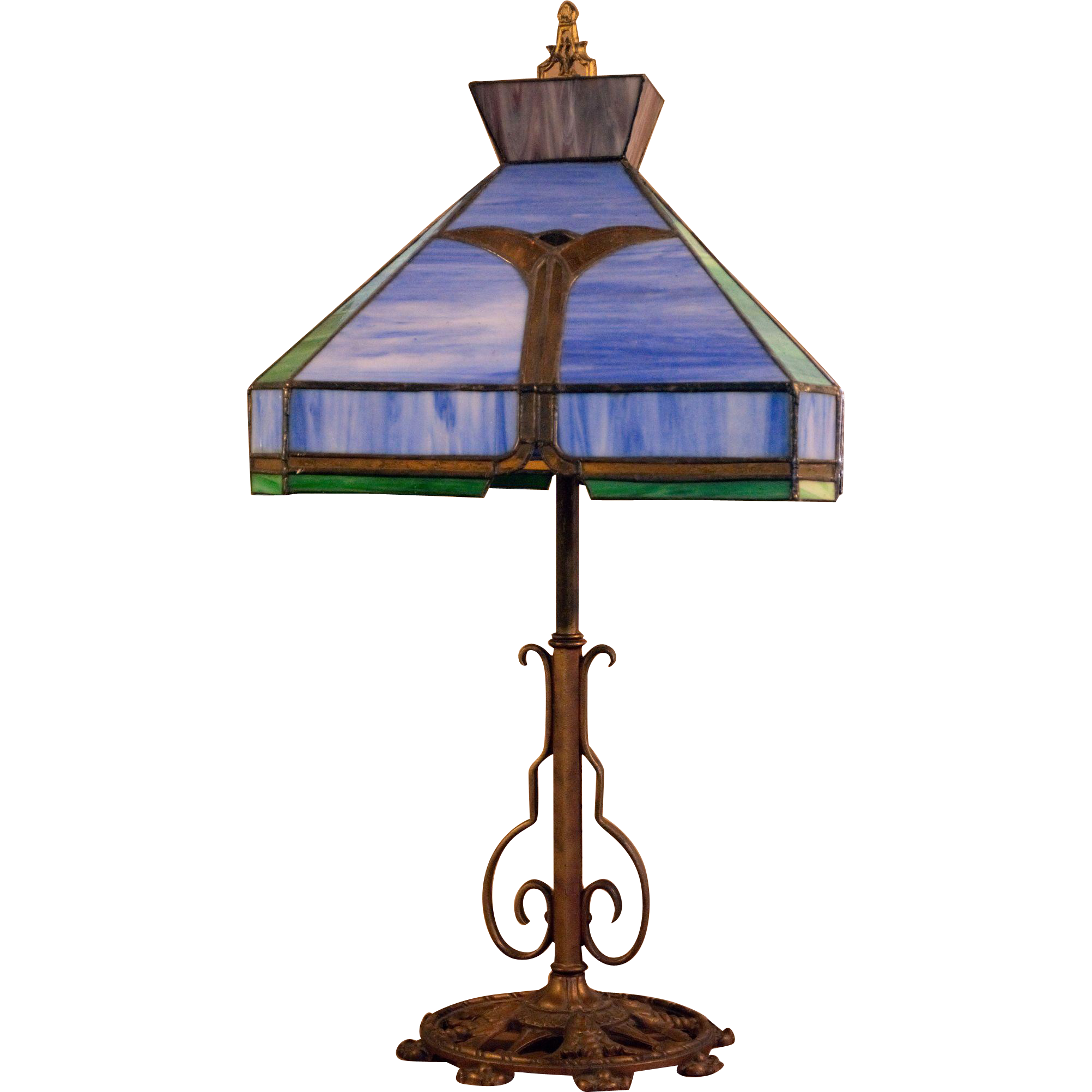 Milcast Stained Glass Table Lamp From Ruff Acres Fine Arts