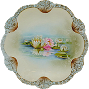 RS Prussia Medallion Mold Plate with Reflecting Water Lilies