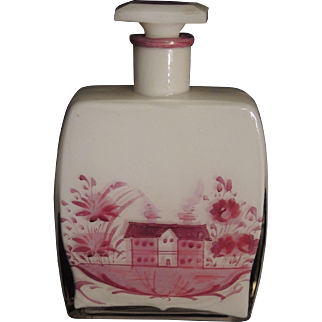 Large Perfume Bottle - Hand Painted