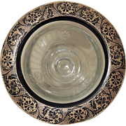 Gold & Black Rim Footed Bowl