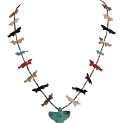 Native American Thunderbird Fetish Necklace