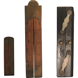 Antique Folding Rulers and Parallel Rule