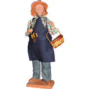 Claude Carbonel Clay Doll Santon De Provence France, Male Farmer