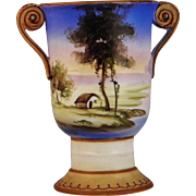 Lovely Antique Hand Painted Nippon Morimura Vase.