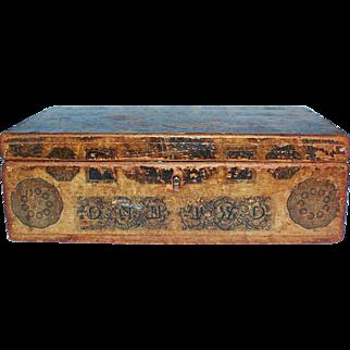 Very Early Pine Decopage Document Box