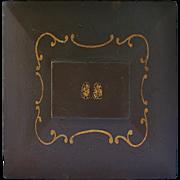 Unique 19th C. Large Hand Painted Masons Document Box