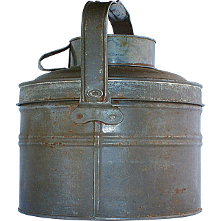 Tin Coal Miners Lunch Box