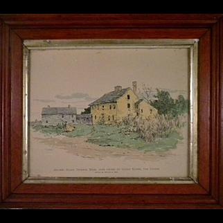 Rare  Ca. 1895 Arthur Wesley Dow Colored Woodblock Print