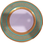 12 Green Rosenthal Ivory Bavaria Gold Gilded Dinner Plates (6047.3)