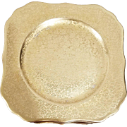 12 All Gold Encrusted Royal Bavaria China By Hutschenreuther Selb Bavaria Pickard Daisy & Rose Pattern 647 22kt Heavy Gold Encrust Square Lunch, Brunch, Salad Plates