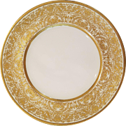 12 Royal Doulton Gold Encrusted Gilded Cabinet Dinner Plates 10.5""
