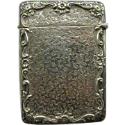 C1910 Hallmarked English Sterling Silver Card Case