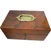 C1900 Walnut Jewellery Box