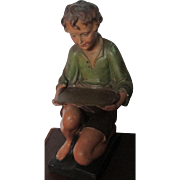 C1920s English Plaster Boy Shop Fitting / Advertising Figure
