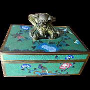 Fine Antique Chinese Bronze Cloisonne Box