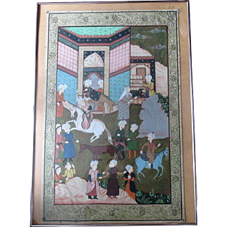 Fine Quality Antique Indian Mogul Painting on Cloth