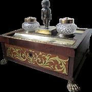 Fabulous English Regency Desk Tidy Standish