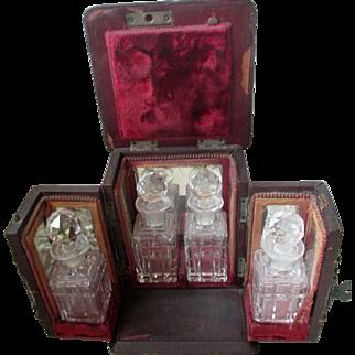 Fine Edwardian Leather Bound Perfume Casket