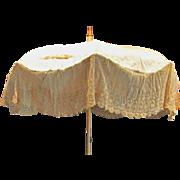 Original Late Victorian Lace Parasol Naval Theme